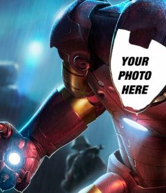 Photomontage to put your face in the special Iron Man suit