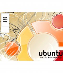 Twitter background for your twitter account of Ubuntu Linux, to put your photo on the side