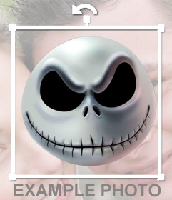 """Sticker with the head of Jack Skellington""""s head"""