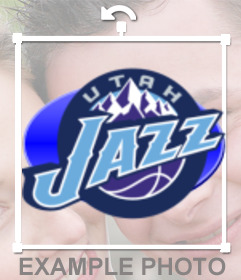 Sticker with the logo of the Utah Jazz