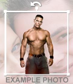 WWE sticker of wrestler John Cena