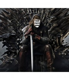 Photo mounting on the iron throne to add your face