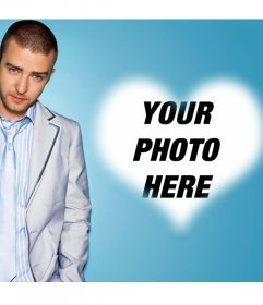 Photo effect for fans of Justin Timberlake and add your photo