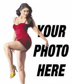 Photo montage with Kareena Kapoor from Bollywood