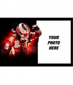Photomontage of Kimi Räikkönen