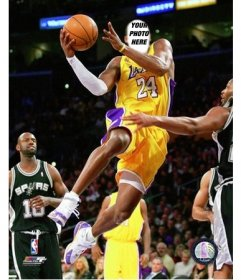 Photomontage to put your face on the player Kobe Bryant
