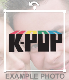 Sticker with the logo of K-Pop for your images