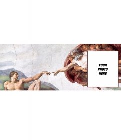 Custom cover photo with the picture The Creation of Adam