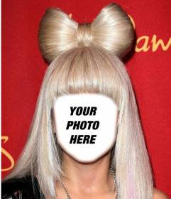 Dress up as Lady Gaga with her blond hair with this photomontage