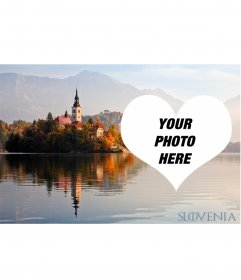Postcard of Slovenia to decorate your photo