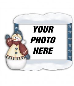 Frame your photos with Christmas snowman you can do online and put your photo