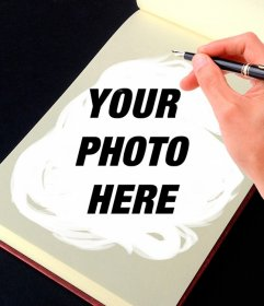 Photomontage of a sketchbook to transform your photos into art pieces