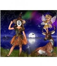 Free photo effect for children of little fairy costume to edit