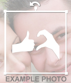 Sticker of hands making symbol Friendzone