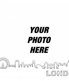 Silhouette of the city of London to add to your photos for free