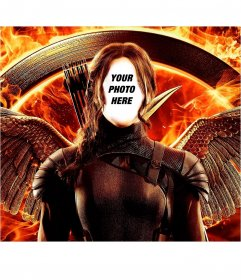 Photomontage with the poster of Hunger Games to customize