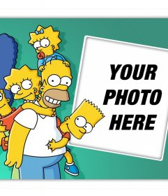 Upload your photo along with all the Simpson family and for free