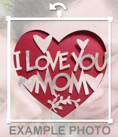 Decorative sticker to show to your mom that you love her