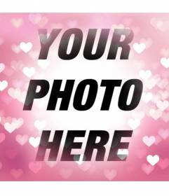 You can add this pink gradient background to your photos with bright hearts easily and for free