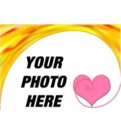 Photo frame with a heart. Congratulates this Valentine with a free online photo montage, you can save or email