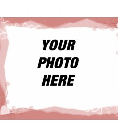 Template picture frame, pink with hearts. Upload an image and apply the decoration to your photo. You can use the resulting image, picture social networking profile