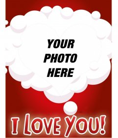 Photomontage that reflects love in a heart