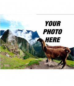 Photo effect with the ruins of Machu Picchu