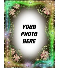 Magic photo frame spring green to do with your photo