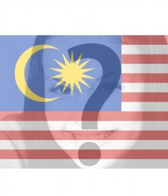 Virtual filter to add on your photos the Malaysia Flag