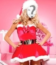 Photomontage of Mrs Santa Claus to do online