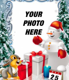 Photomontage Christmas Day to personalize with photos