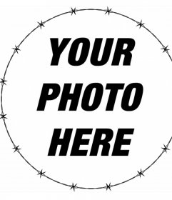 Circular frame with barbed fence to decorate your photos for free