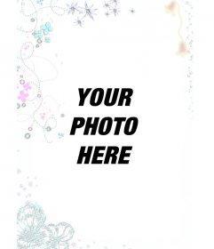 Photomontage with bright Christmas tree