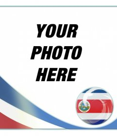 Filter with the flag of Costa Rica to put your photo