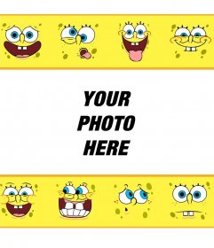 Child photo frame for your pictures of SpongeBob SquarePants