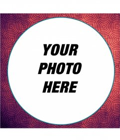 Psychedelic style photo frame for your images