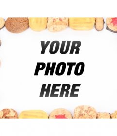Decorate your digital photos with this photo frame consists of cookies in different flavors