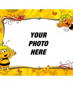 Child picture frame to personalize with Maya Bee