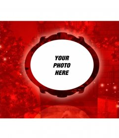 Red and elegant effect with a Christmas background to put your photo