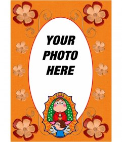 Religious photo frame for your images with a picture of the Virgin Mary