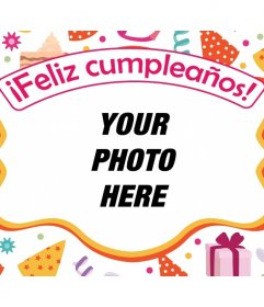 Postcard to congratulate a birthday with your favorite photo