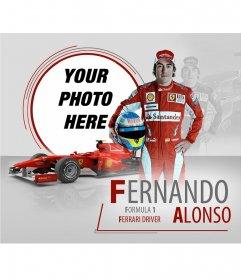 Photo frame of Fernando Alonso