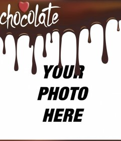 Melted chocolate picture frame to put your photo