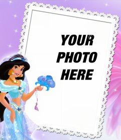 Frame to edit with your photo and to be with Princess Jasmine from Aladin