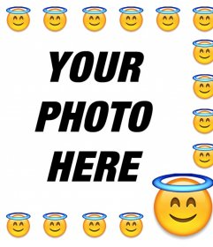 Piciture frame for your photo of the Saint emoticon