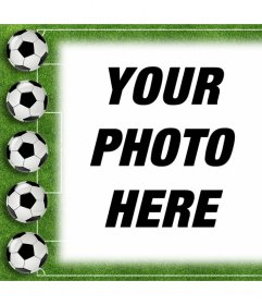 Football photo effect to upload your photo