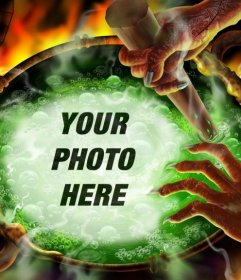 Photo effect to put your photo in a cauldron