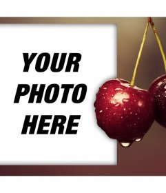 Frame with exquisite cherries to edit with any of your photos