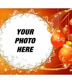 Photo frame with Christmas ornaments to put your photo