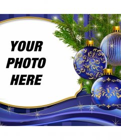 Put your picture next to this Christmas card with ornaments